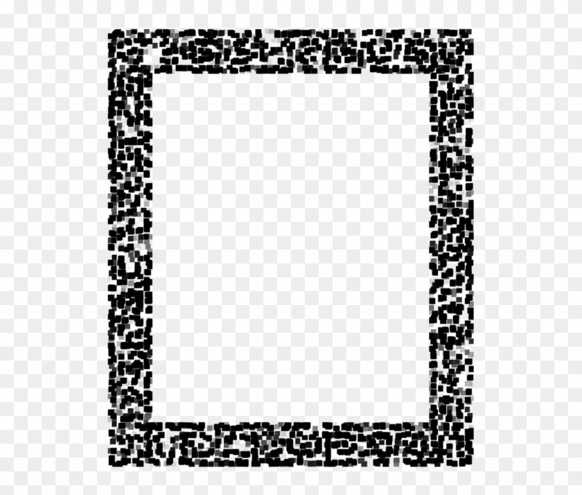 Black And White Polka Dot Wedding Invitation Letter - Islamic Black And White Frame Clipart #1374914
