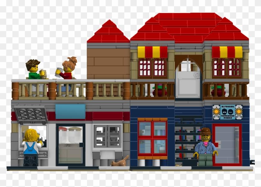Bubble Tea And Comic Book Shop - Lego Clipart #1376474