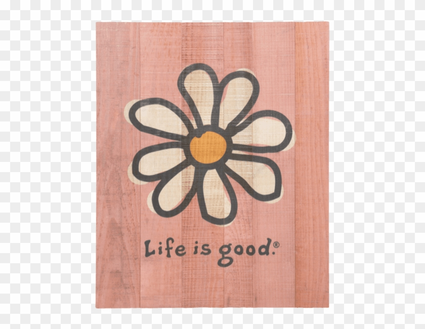 Painting Flowers Daisuy Life Is Good Wall Art Minimalist - Life Is Good Stickers, HD Png Download #1376579