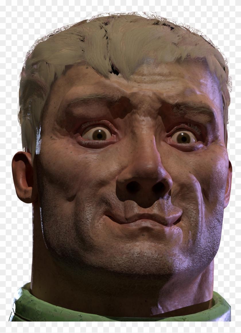 Doom Quake Champions Face Nose Head Forehead - Quake Champions Doomguy Face Clipart #1384259