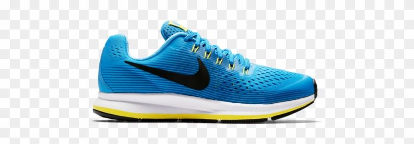 Nike Zoom Pegasus 34 Gs Blue Black Kids Running Shoes - Vans Old Skools Blue Clipart #1384594