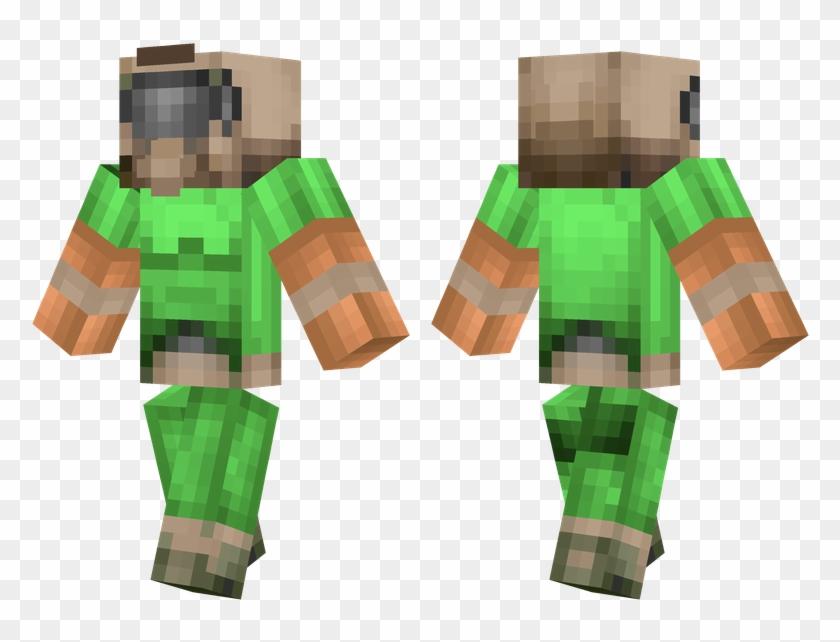 Doom Guy Minecraft Classic Doomguy Skin Clipart 1385615 Pikpng