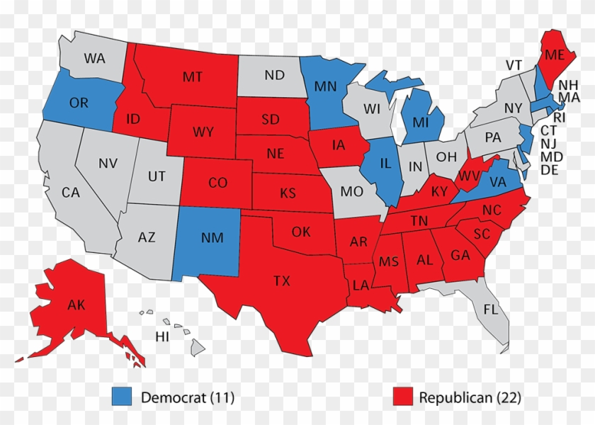 This Map Has Flipped Twice In The Last Two Election, - Us Senate Map 2018 Clipart #1386845