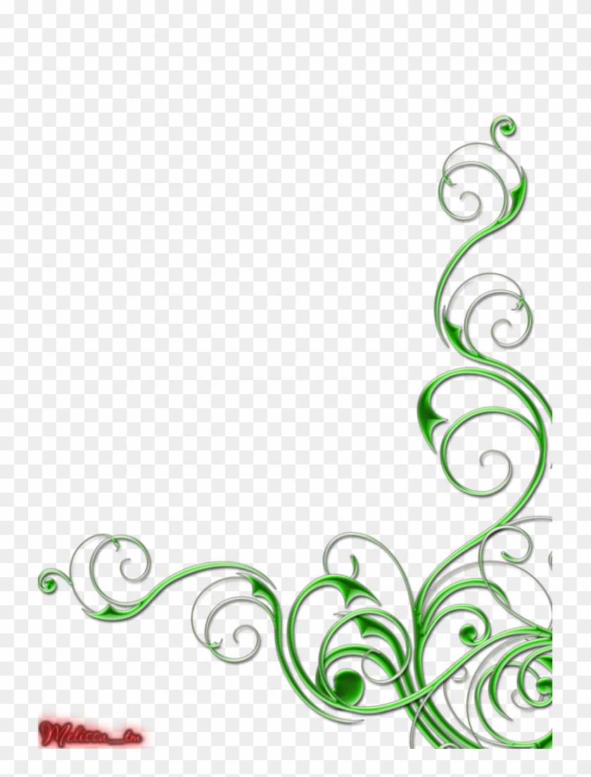 Image Free Download Example Certificate Green Swirl - Green Border Designs Simple Clipart #1388376