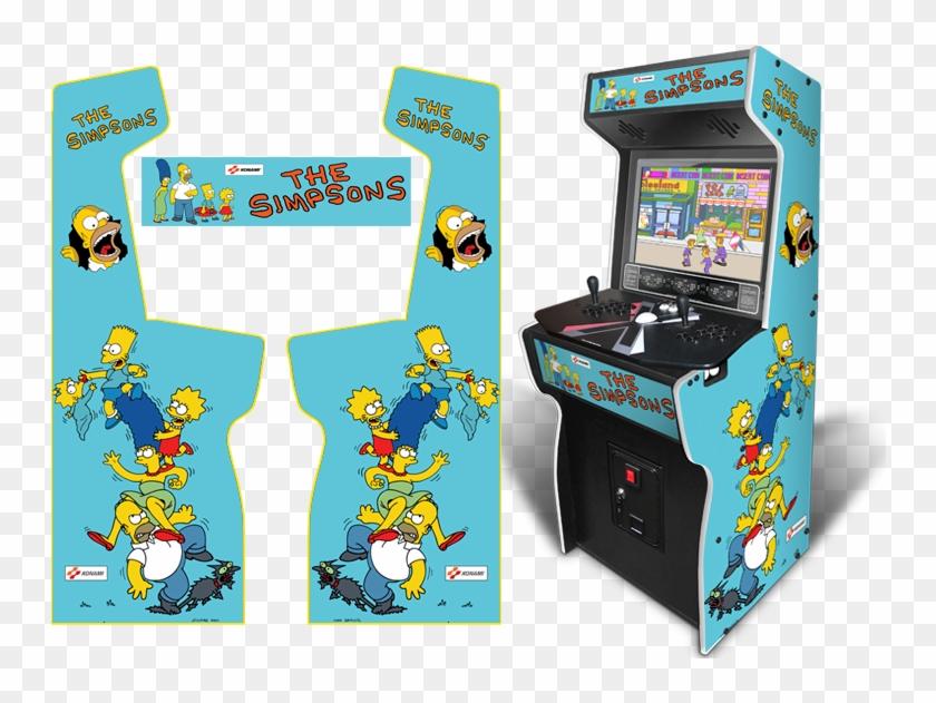 800 X 552 0 - Simpsons X Arcade Machine Clipart #1395809