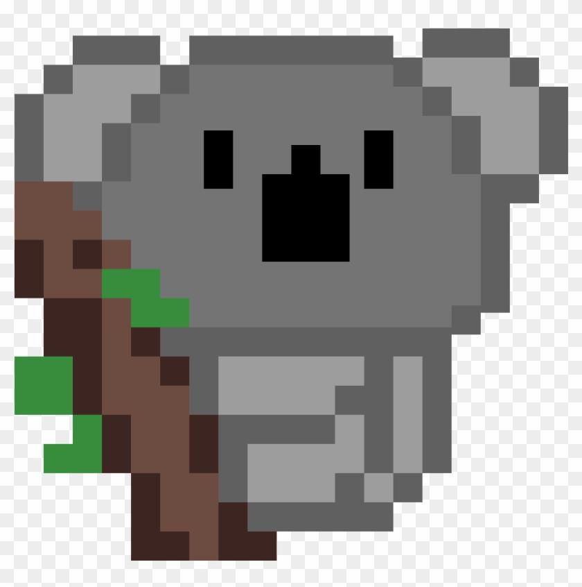 Koala Pixel Art Png Download Pechera De Hierro Png