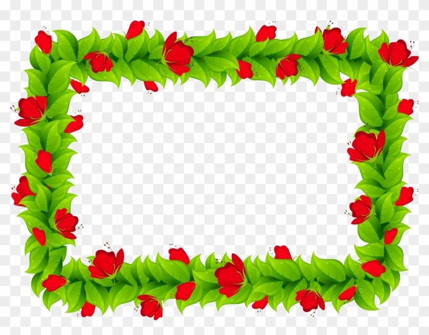 Free Png Download Floral Border Frame Clipart Png Photo - Flower Border Frame Png Transparent Png #145868