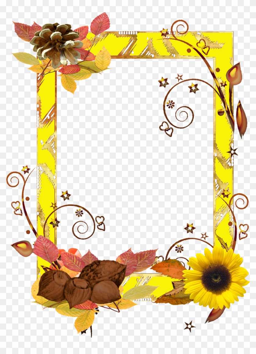 Flower Frame Png, Png Format, Frames, Moldings, Floral, - Frame Bail Flower Png Hd Clipart #146455