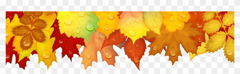 Fall Leaves Border Png Clipart #146501