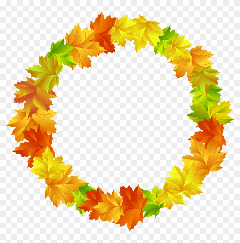 Free Png Fall Leaves Round Border Frame Png Images - Fall Leaves Circle Transparent Clipart #146607