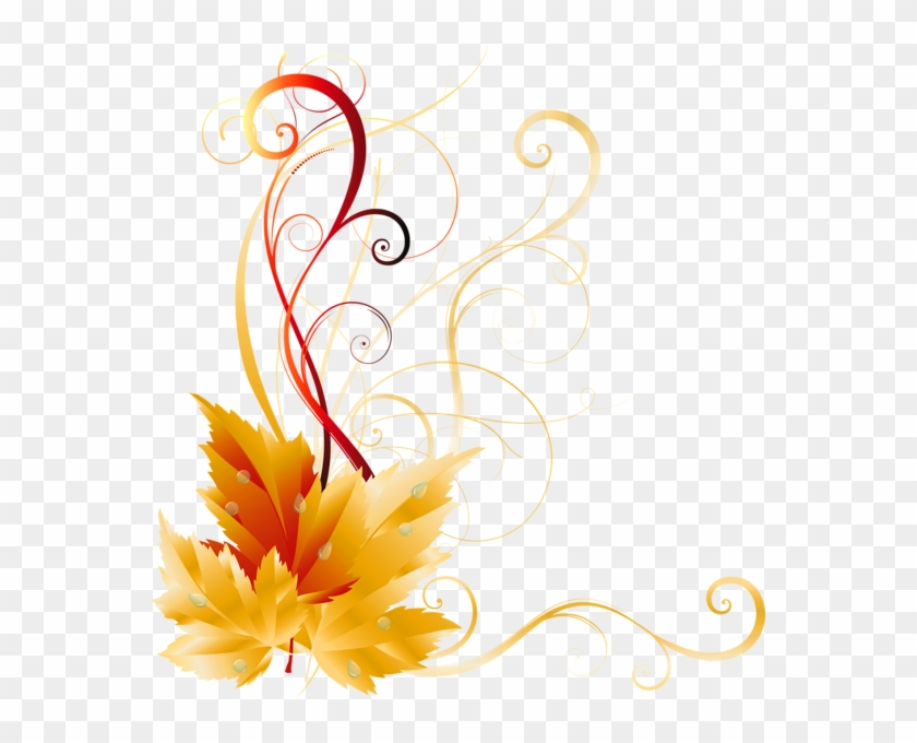 Fall Leaves Corner Border Png - Fall Border Transparent Background Clipart #146794