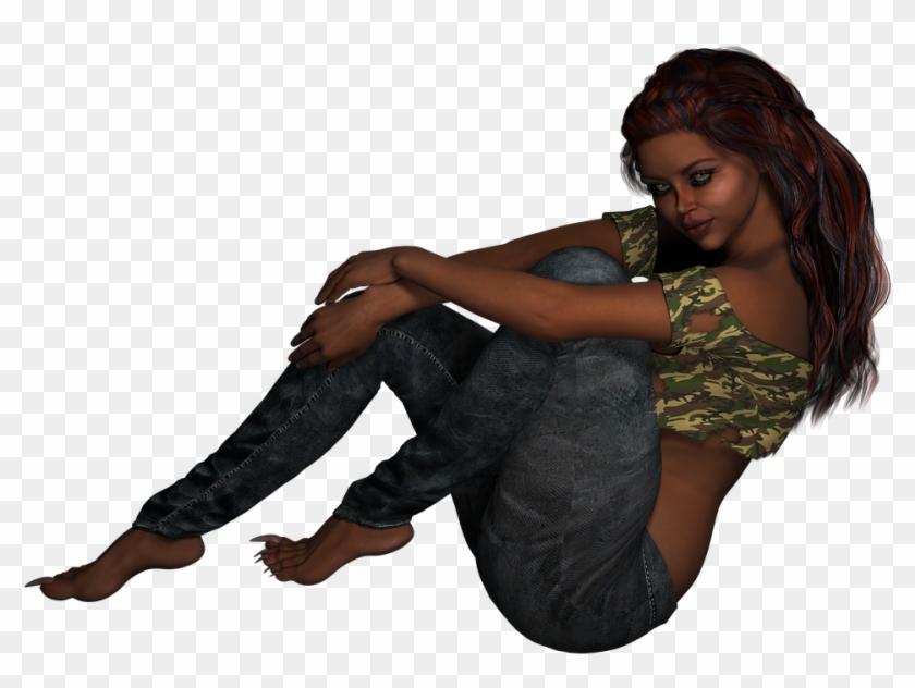 Girl Sitting Feet - Cb Edit Girl Png Background Hd Clipart #146820