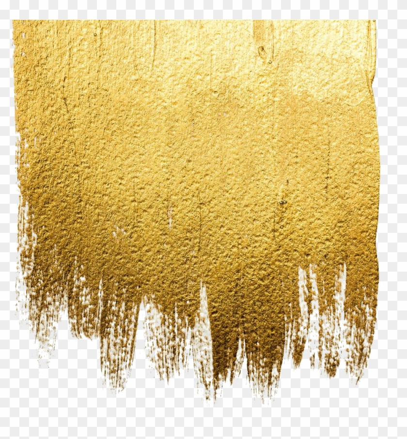Acrylic Abstract Art Illustration Wall Royaltyfree - Gold Paint Png Clipart #147033