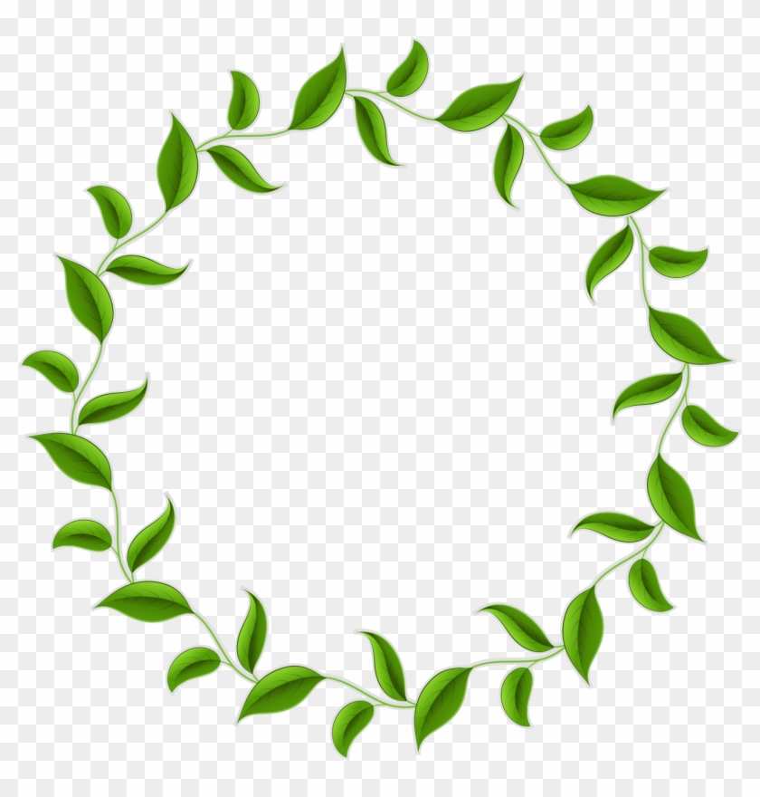 1490 X 1416 20 - Leaves Circle Border Png Clipart #148531