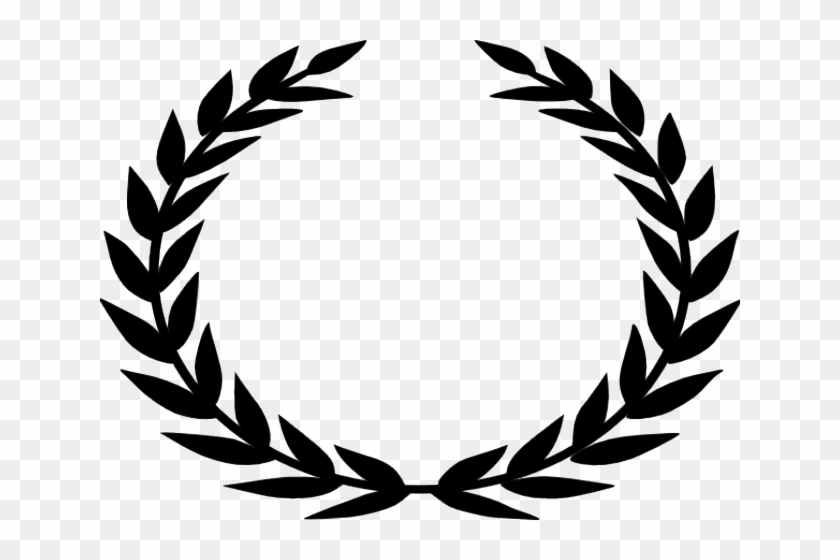 Drawn Branch Leaf Border Png - Laurel Wreath Black And White Clipart #148993
