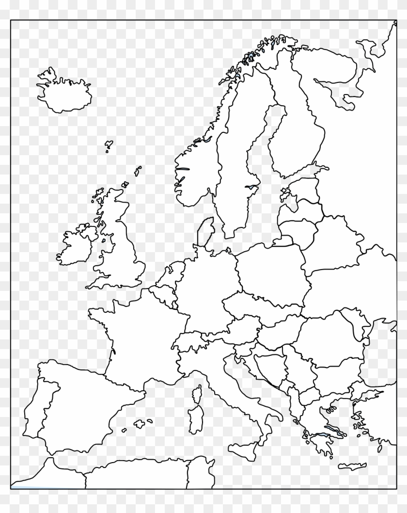 Picture of: Blank Map Europe Blank Map Rivers Clipart 1403872 Pikpng