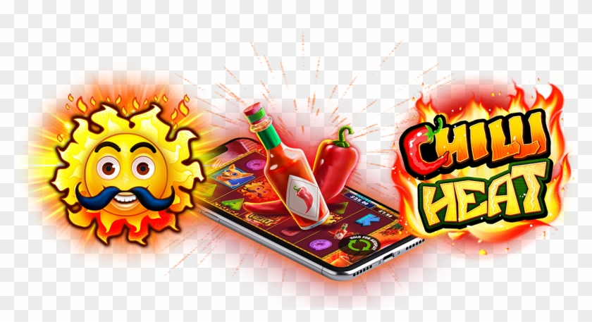 Chilli Heat Slots Game Logo Cartoon Clipart 1404658 Pikpng