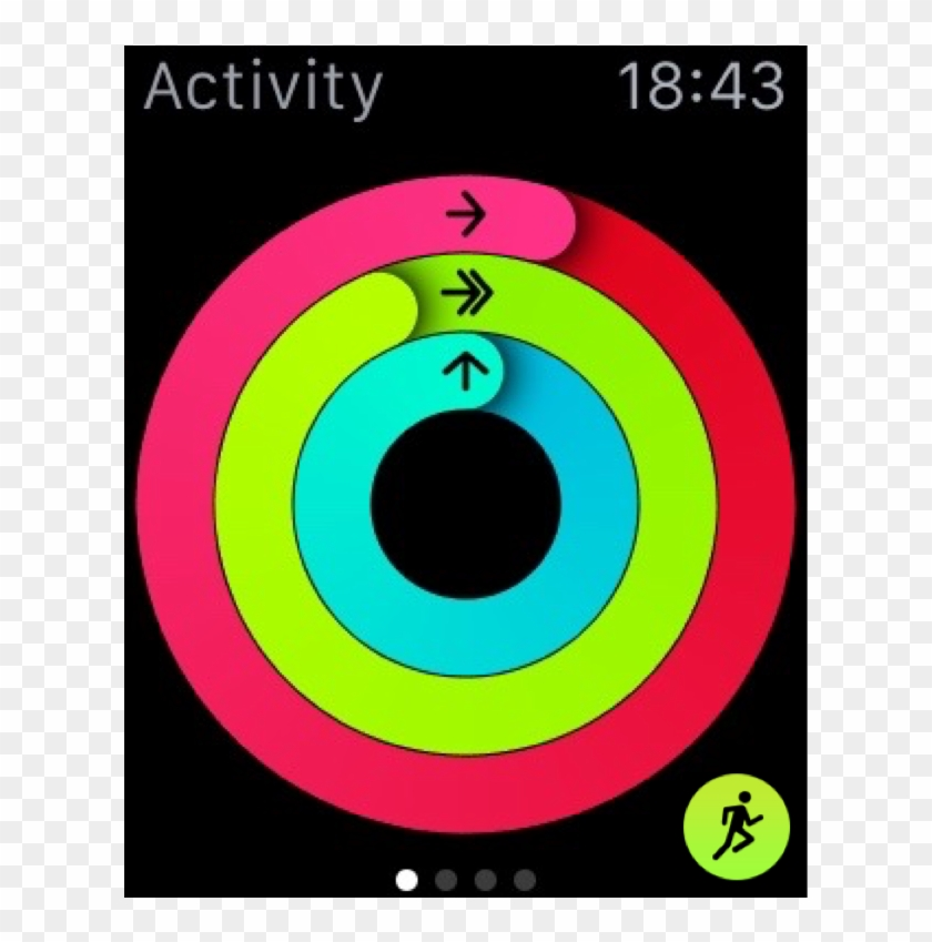 Just Like The Activity Rings In The Bottom-right Corner - Apple Watch Face Activity Clipart #1409023