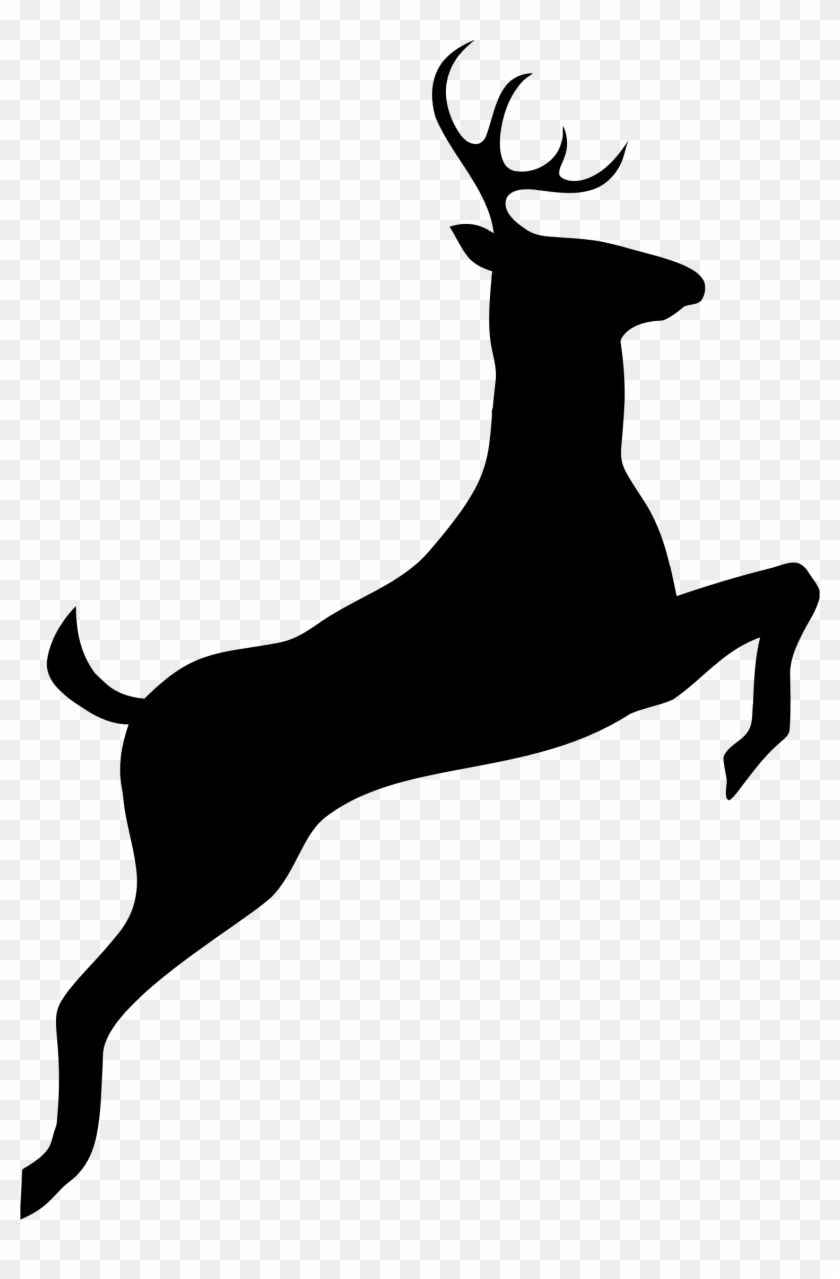 Buck Silhouette Png - Deer Black And White Clipart #1412328