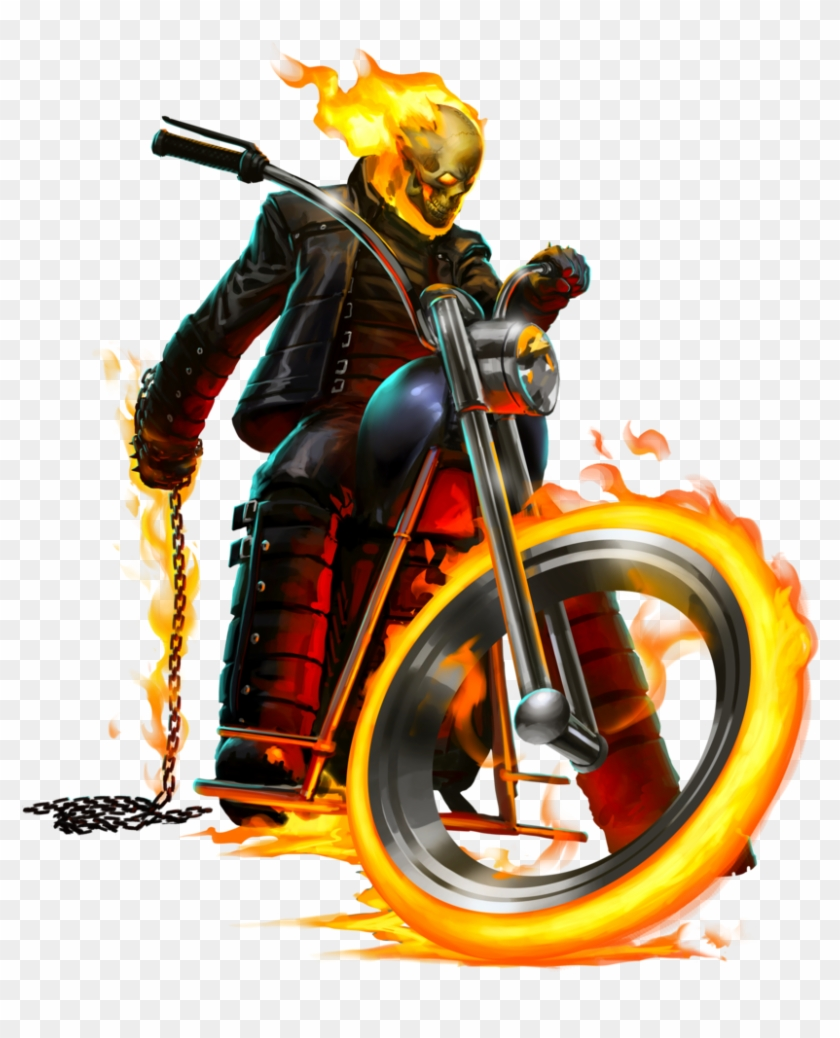 Blue Drawing Ghost Rider Black And White Clipart #1419054