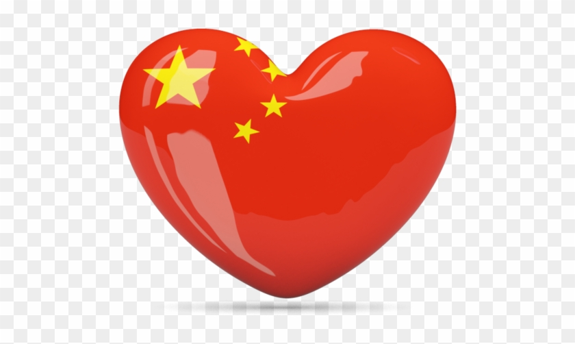 China Flag Png Transparent Images China Flag In A Heart Clipart 1421297 Pikpng