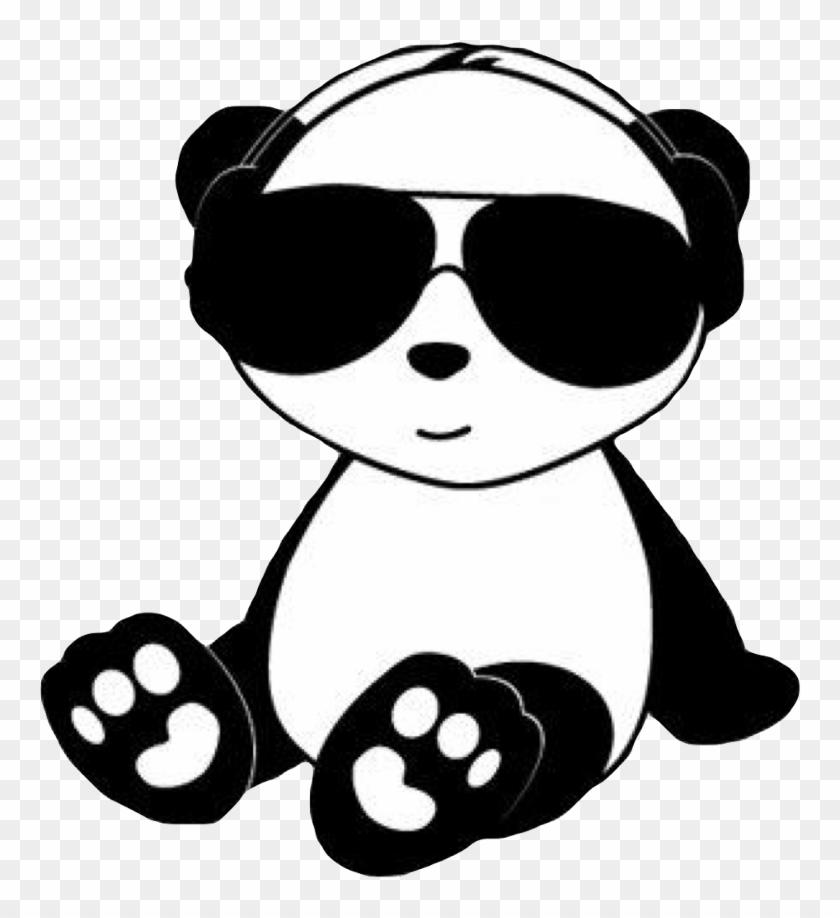 #chill #panda #cute #kawaii #black #white #animal #bear ...