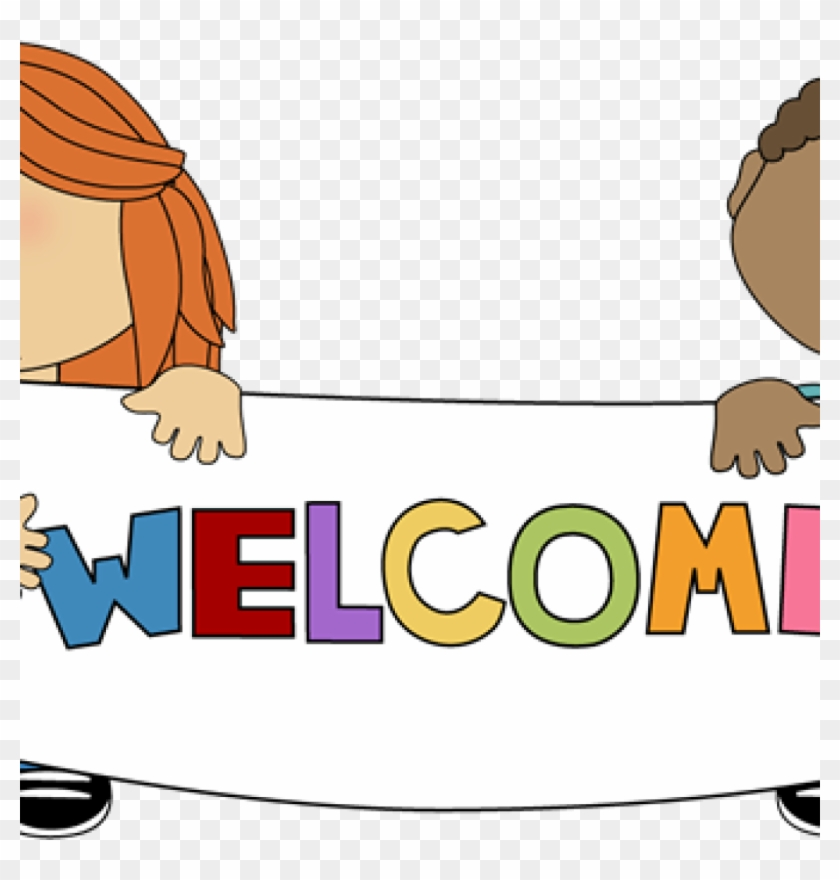 Welcome Sign Clip Art Kids Holding A Welcome Sign Clip ...