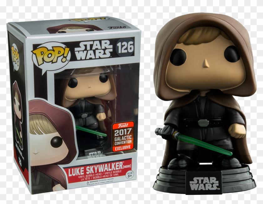 Luke Skywalker Hooded Jedi Pop Vinyl Figure - Star Wars Funko Pop Luke Skywalker Clipart #1431145