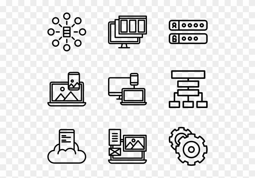 Web Design Icon Collection - Manufacturing Icons Clipart #1431744