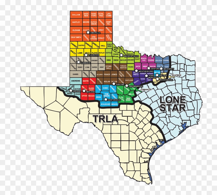 Northwest Texas Map Legal Aid Of Northwest Texas Map Clipart (#1438439)   PikPng