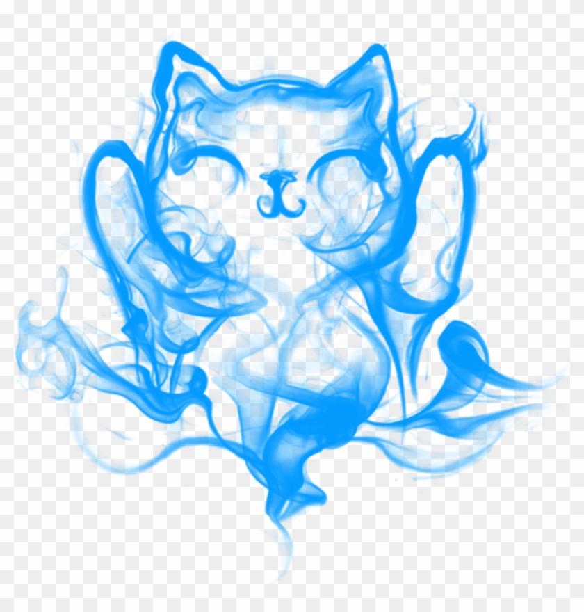 ##freetoedit #cat #vape #smoke #cloud #blue - Smoke Clipart #1441989