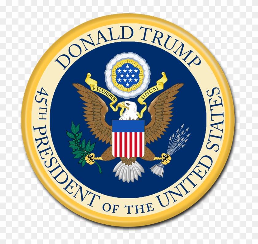 President Donald Trump - Us Embassy Seal Clipart #1443387