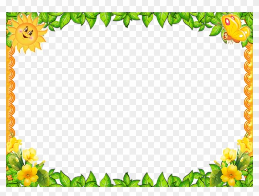 Molduras Png Infantil - Green Leaves Border Png Hd Clipart #1444105