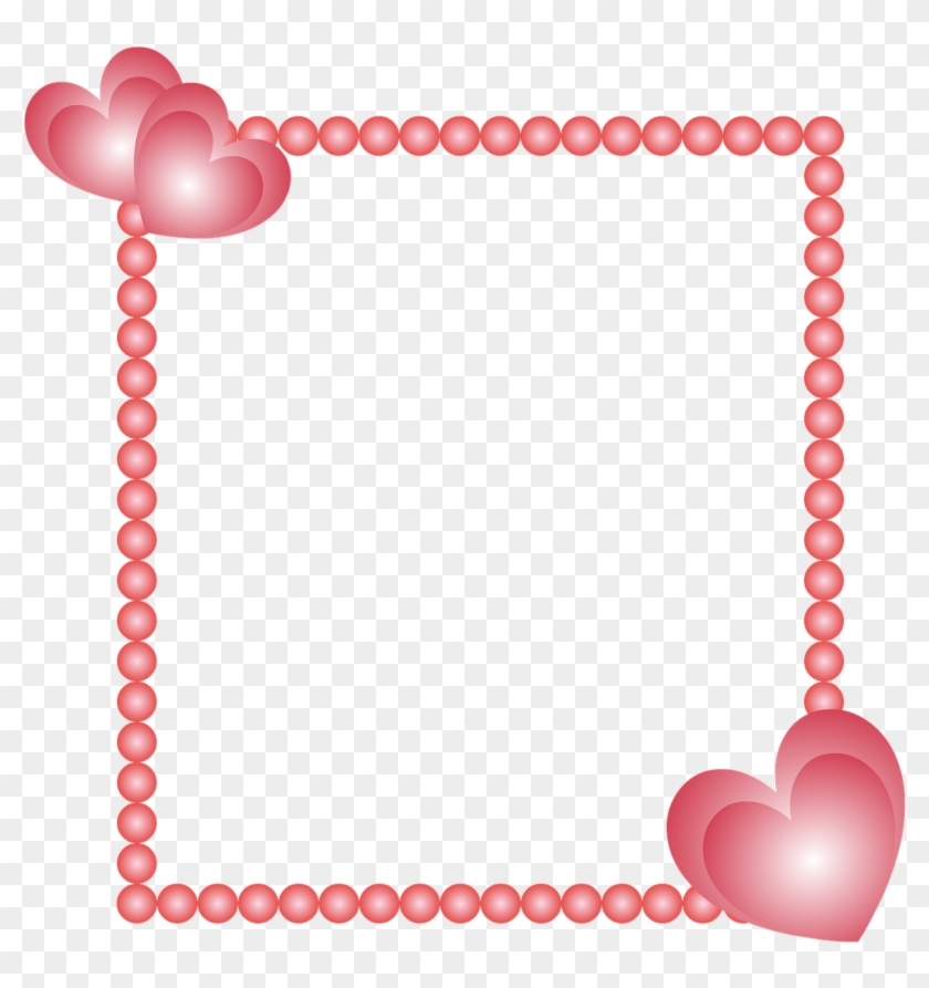 Cadre Coeur Cœurs Moldura Com Coracao Png Clipart 1444425 Pikpng
