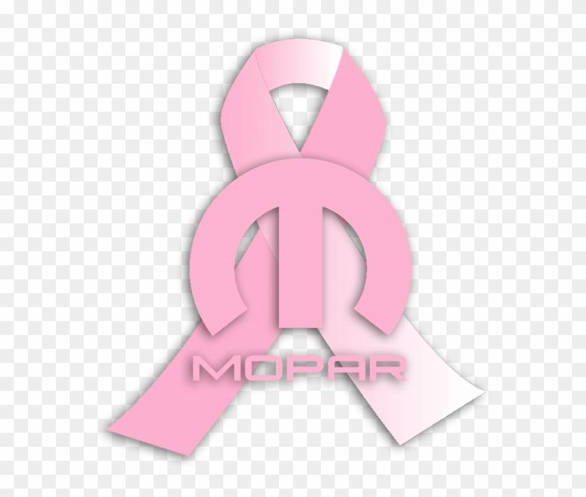 Mopar Breast Cancer Awareness Ribbon Illustration Clipart