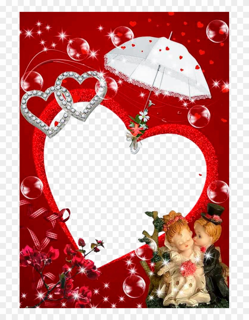 Love Frame Free Png Image - Love Photo Frame Png Hd, Transparent Png #1456748