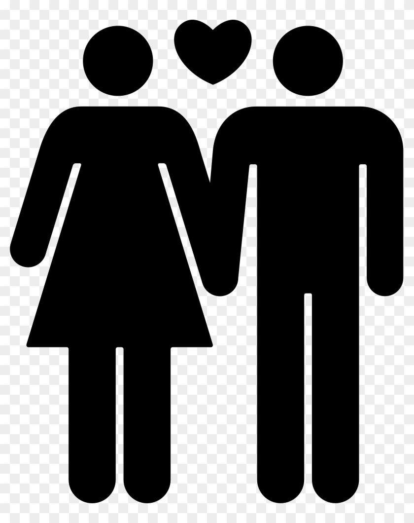 Couple Of Man And Woman In Love Comments - Man And Woman In Love Icon Clipart #1457747