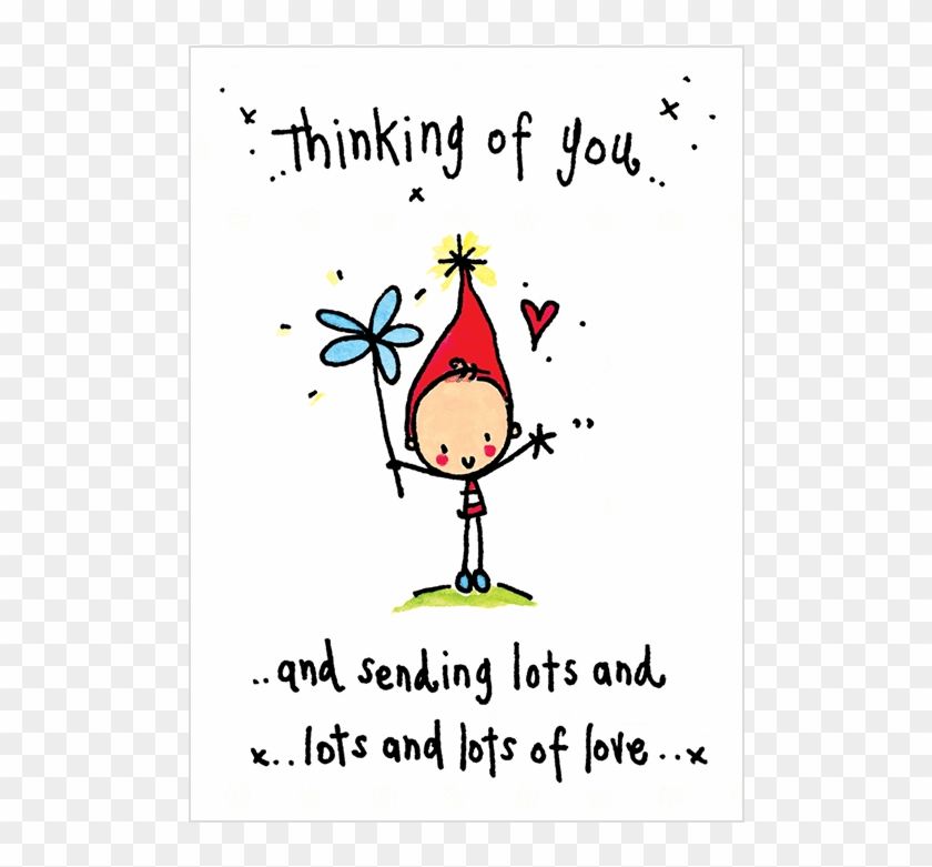 Thinking Of You And Sending Lots And Lots Love - We Think Of You Clipart #1458612