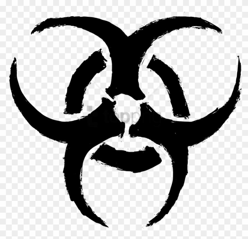 Free Png Biohazard Symbol Transparent Background Png - Biohazard Symbol Png Clipart #1464485