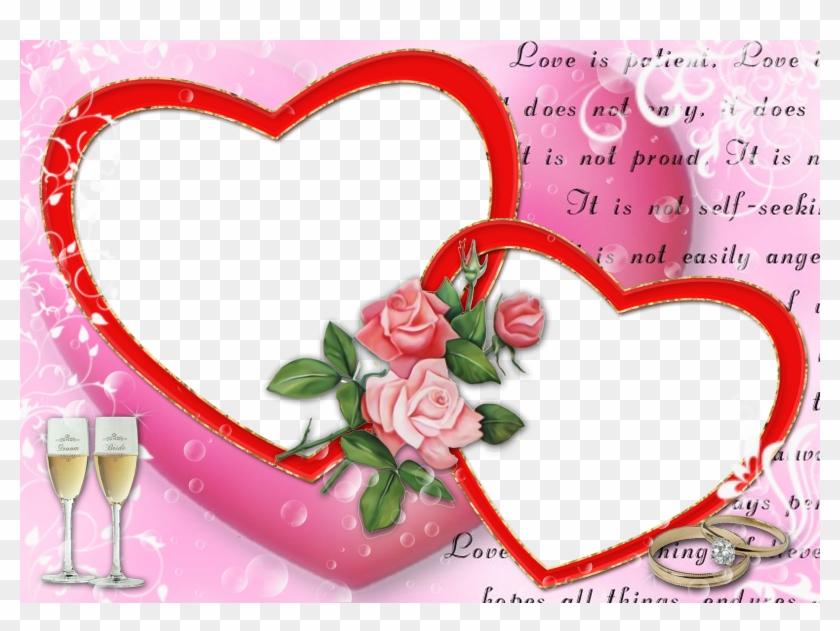 Lovely Wedding Album Frames, Karizma Album Templates - Love Photo Frame Hd Download, HD Png Download #1465839