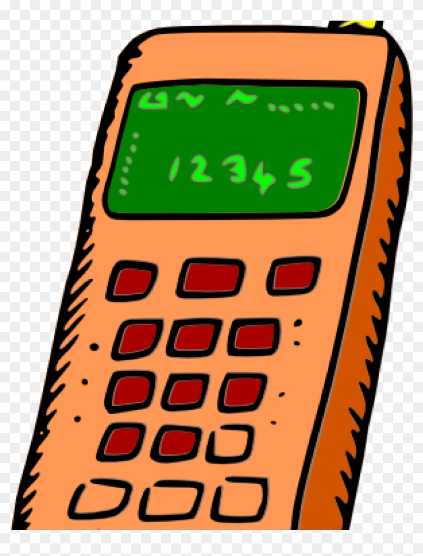 Mobile Phone Clipart Image Of Cellphone Clipart 6080 - Old Mobile Phone Clipart - Png Download #1466913