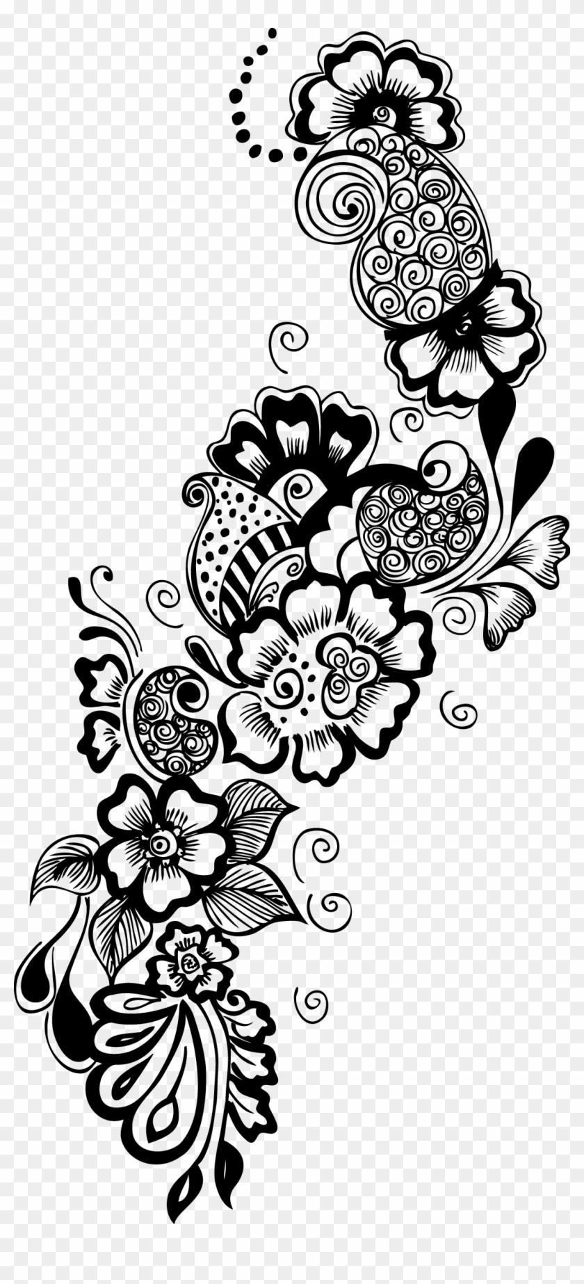 Vector Google Search Clipart Pinterest Design Border - Decorative Flower Vector Transparent - Png Download #1469785