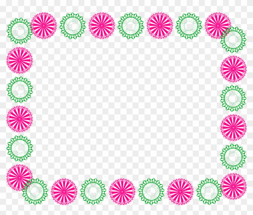 15 Mexican Flowers Border Png For Free On Mbtskoudsalg - Design Border Line Png Clipart #1470171