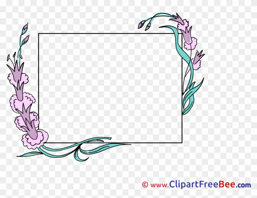 Beautiful Flowers Printable Frames Images Cadre Photo Telecharger Gratuit Clipart 1471700 Pikpng