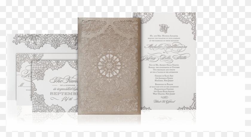 Lace Laser Cut Wedding Invitation Suite - Laser Cut Wedding Invitation Suites, HD Png Download #1473643