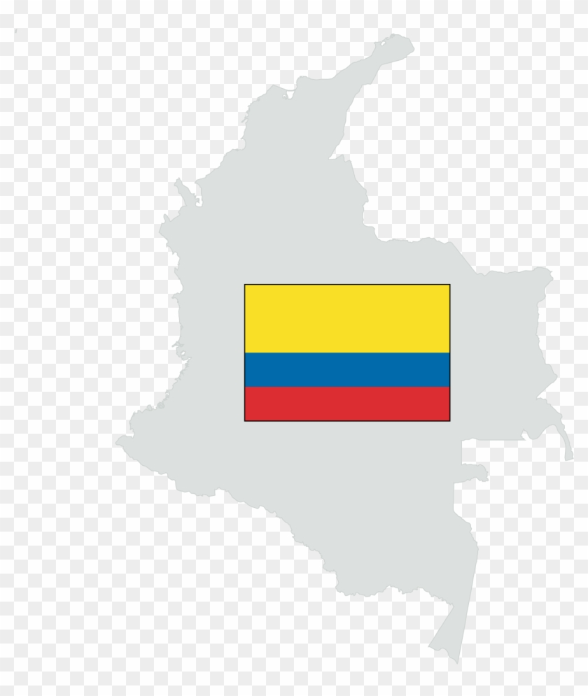 Colombia - Map Colombia Clipart #1481311
