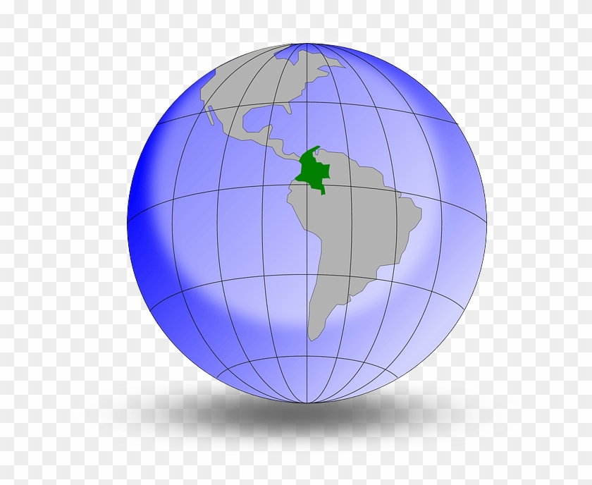 Exploring The Sharing Economy For Travel In Colombia - Colombia On A Globe Clipart #1481756