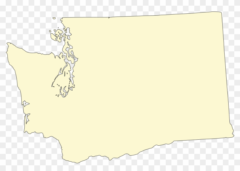 Open - Washington State Map Png Clipart #1486135