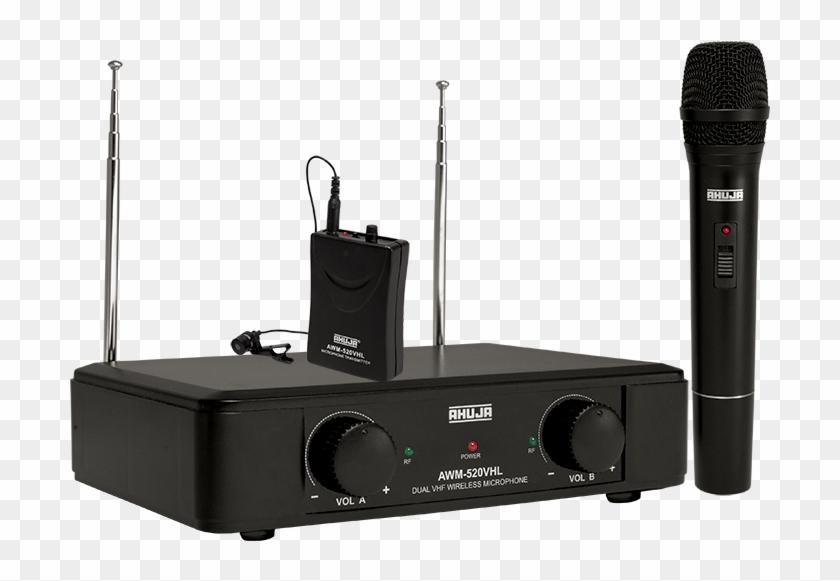 Dual Pa Vhf Wireless Microphones - Ahuja Awm 520vl Wireless Microphone Clipart #1486526