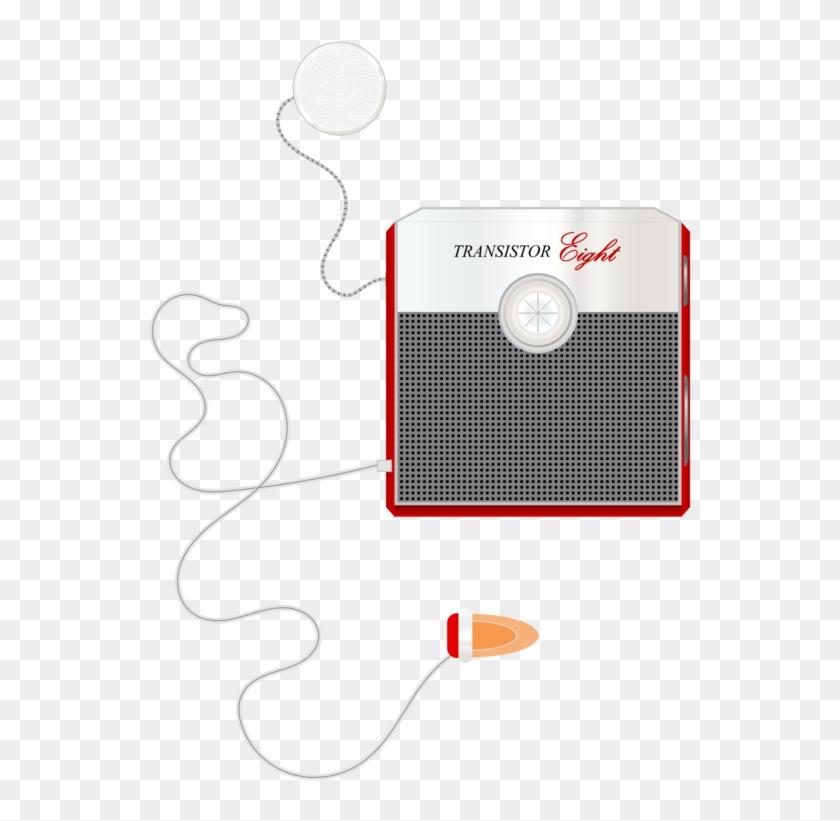 Transistor Radio Antique Radio Microphone - Drawing Clipart #1486694